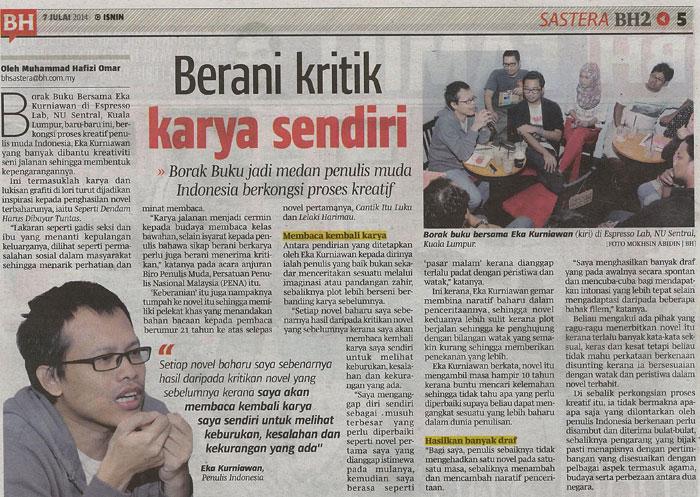 Berita Harian, 7 Juli 2014